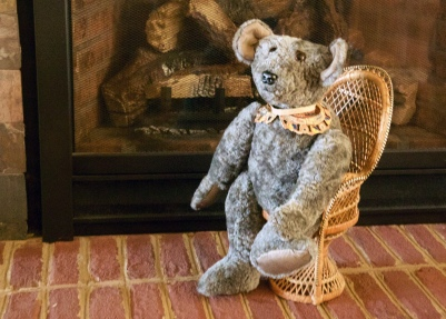 I have dreamed of making Teddy Bears for years. This one is from the material in my mother-in-law's winter fur coat.